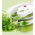 emsa Falt-Salatschleuder TURBOLINE, Grün/Transparent, 4,50 Liter
