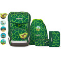 ergobag Cubo Light Schulranzen-Set 5tlg. inkl. Klettie-Set bärrex lava grün
