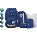 ergobag Pack Schulranzen-Set 6tlg. inkl. Klettie-Set blaulichtbär blau