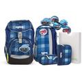 ergobag Pack Schulranzen Set 6tlg. KaroalaBär-blau karo