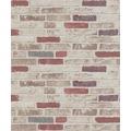 Erismann Strukturtapete auf Vlies 670313 Brix unlimited Muster/Motiv beige, rot, braun