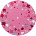 ESPRIT Kinder-Teppich Loom Field ESP-2980-03 rosa/pink 100 x 100 cm rund