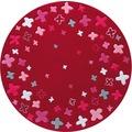 ESPRIT Kinder-Teppich BTeppich Loom Field ESP-2980-04 rot 100 x 100 cm rund
