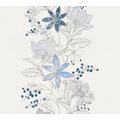 ESPRIT Vliestapete Romantic Botanics Tapete blau metallic weiß 10,05 m x 0,53 m