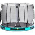 EXIT Elegant Inground-Trampolin ø305cm mit Economy Sicherheitsnetz - blau