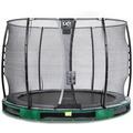 EXIT Elegant Inground-Trampolin ø305cm mit Economy Sicherheitsnetz - grün