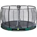 EXIT Elegant Inground-Trampolin ø305cm mit Deluxe Sicherheitsnetz - grün