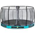 EXIT Elegant Inground-Trampolin ø305cm mit Deluxe Sicherheitsnetz - blau