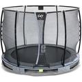 EXIT Elegant Premium Inground-Trampolin ø305cm mit Deluxe Sicherheitsnetz - grau