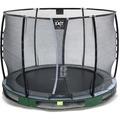 EXIT Elegant Premium Inground-Trampolin ø305cm mit Deluxe Sicherheitsnetz - grün