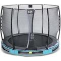 EXIT Elegant Premium Inground-Trampolin ø305cm mit Economy Sicherheitsnetz - blau