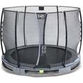 EXIT Elegant Premium Inground-Trampolin ø305cm mit Economy Sicherheitsnetz - grau