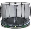 EXIT Elegant Premium Inground-Trampolin ø305cm mit Economy Sicherheitsnetz - grün