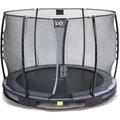 EXIT Elegant Premium Inground-Trampolin ø305cm mit Economy Sicherheitsnetz - schwarz