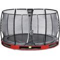EXIT Elegant Premium Inground-Trampolin ø305cm mit Deluxe Sicherheitsnetz - rot