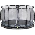 EXIT Elegant Premium Inground-Trampolin ø305cm mit Deluxe Sicherheitsnetz - schwarz
