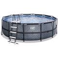 EXIT Frame Pool ø450x122cm (12v) – Grau