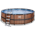 EXIT Frame Pool ø450x122cm (12v) - Holz optik