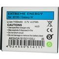 Extreme Energy Li-Ion 1100mAh für Samsung GalaxyW I8150,Xcover,OmniaW,Wave