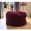 Famous Home TCHILLA Cord Sitzsack XXL Kinder Weinrot  140cm Memory Schaum Rot