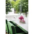 fleur ami NATURAL ILLUSION Glasvase, 20/20 cm, Orchidee pink, helle Steine