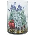 fleur ami NATURAL ILLUSION Glasvase, 25/35 cm, Lavendel, Paprika, Steine