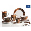 Flirt by R&B Kaffeebecher Porzellan 9x9x10cm rund 320ml CHILE braun schwarz