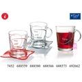 Flirt by R&B Teebecher Glas 12x12x9cm konisch 42cl ALINA rot klar