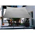 Floracord HDPE Balkonsonnensegel 270 x 140 cm grau inkl. 4 x 3 m Kordel Wind- und Wasserdurchlässig