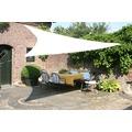 Floracord HDPE Dreiecksonnensegel creme weiß 360 cm Wind- u. Wasserdurchlässig
