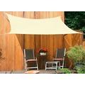 Floracord HDPE Vierecksonnensegel ceme weiß 250 x 300 cm Wind- u. Wasserdurchlässig