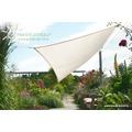 Floracord Vierecksonnensegel elfenbein 250 cm x 300 cm mit Regenschutz incl. Zubehör
