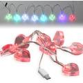 Fontastic LED Ladekabel Micro-USB 1,2m transparent Motiv-Ladekabel mit 8 beleuchteten Herzen