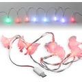 Fontastic LED Ladekabel Micro-USB 1,2m transparent Motiv-Ladekabel mit 8 beleuchteten Rosen