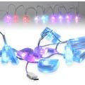 Fontastic LED Ladekabel USB Typ-C 1,2m transparent 9 bunt beleuchtete Buchstaben - Carpe Diem