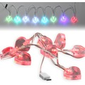 Fontastic LED Ladekabel USB Typ-C 1,2m transparent Motiv-Ladekabel mit 8 beleuchteten Herzen