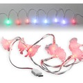 Fontastic LED Ladekabel USB Typ-C 1,2m transparent Motiv-Ladekabel mit 8 beleuchteten Rosen