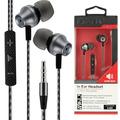 Fontastic Prime In-Ear Stereo-Headset V465 3.5mm sw/anthrazit 3-Tasten-Fernbedienung, Mic, 3-Paar Ohrpasstücke