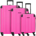 Franky Munich 4-Rollen Kofferset 3tlg. pink2