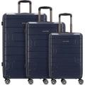 Franky PP12 4-Rollen Kofferset 3tlg. mit Doppelrollen dark blue
