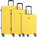 Franky PP12 4-Rollen Kofferset 3tlg. mit Doppelrollen dark yellow