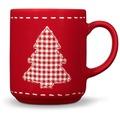 Friesland 4er Set Becher, Tannenbaum, Happymix, Friesland, 0,25l Weihnachten Rot