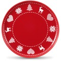 Friesland 4er Set Frühst.-Teller/Jumbo-Untert., Happymix, Friesland, 19 cm Weihnachten Rot