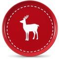 Friesland 4er Set Frühst.-Teller, Reh, Happymix, Friesland, 19 cm Weihnachten Rot