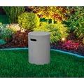 Gardenforma Abdeckung rund für Gasflaschen, Beton-Optik grau Faser-Beton,für 11kg Gasbehälter