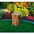 Gardenforma Sitzhocker Warren in brauner Baumstamm-Optik aus Eco-Stone, Farbe: Red-Wood