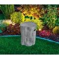 Gardenforma Sitzhocker Warren in grauer Baumstamm-Optik aus Eco-Stone, Farbe: classic-grey
