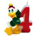 PROCOS Geburtstagskerze Nr. 4, Disney Mickey Party Favours, 1 Stück