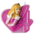 PROCOS Geburtstagskerze Nr. 4, Disney Princess Party Favours, 1 Stück
