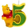 PROCOS Geburtstagskerze Nr. 5, Disney Winnie, 1 Stück